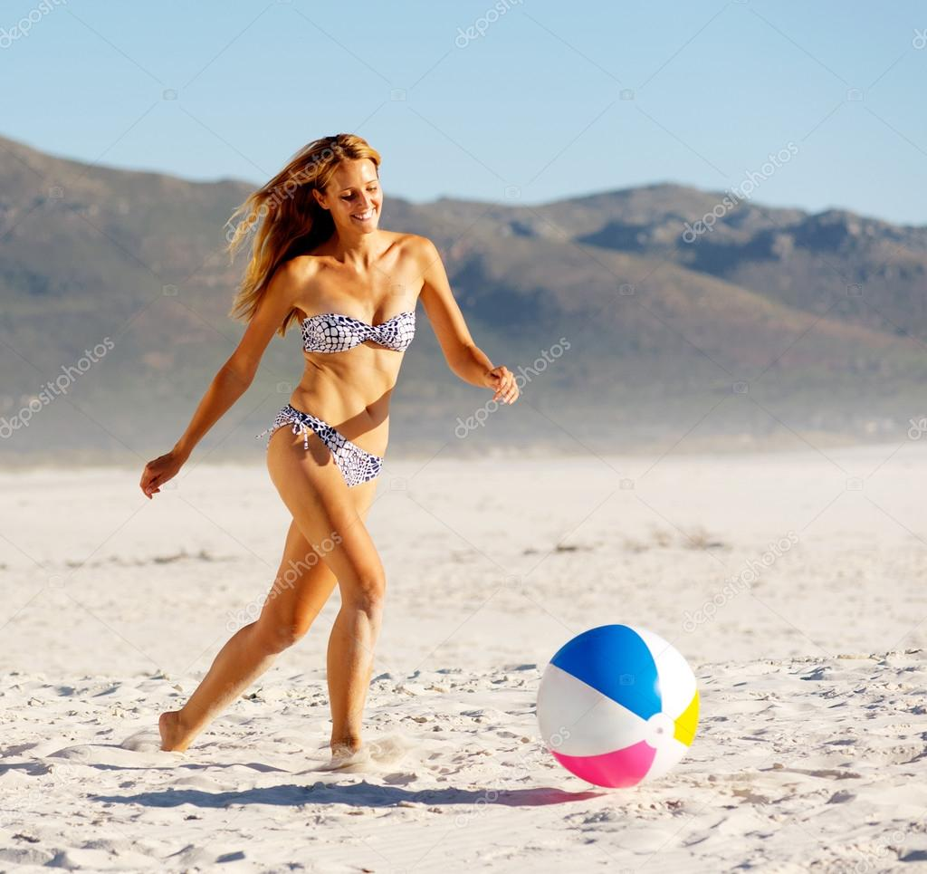 Beach ball babe