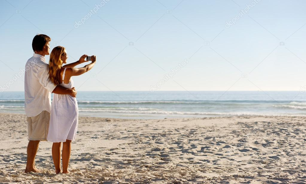 Summer beach honeymoon