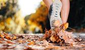 podzimní běžec nohy
