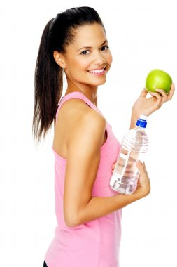 healthy eating fit woman