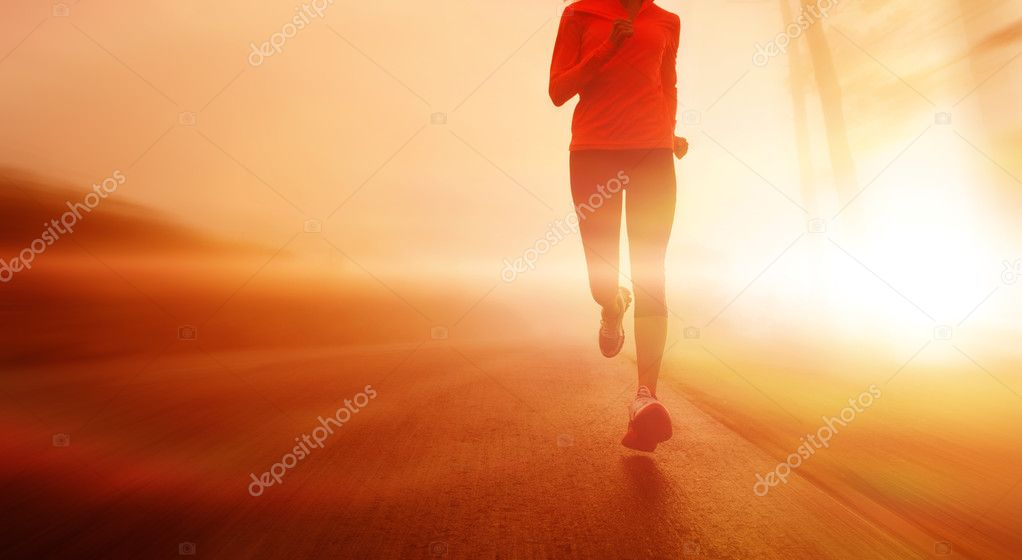 motion blur athlete running