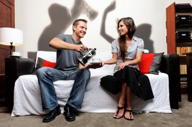 Domestic abuse shadow play family and social issue