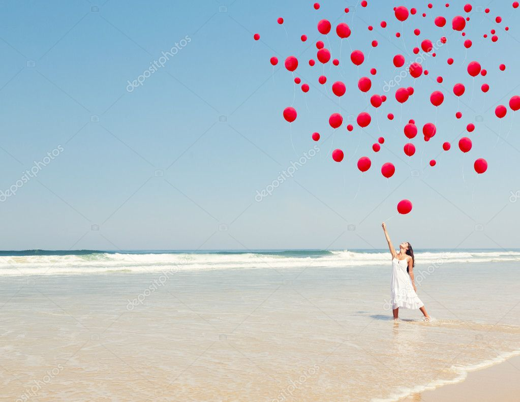 Dropping ballons in the sky