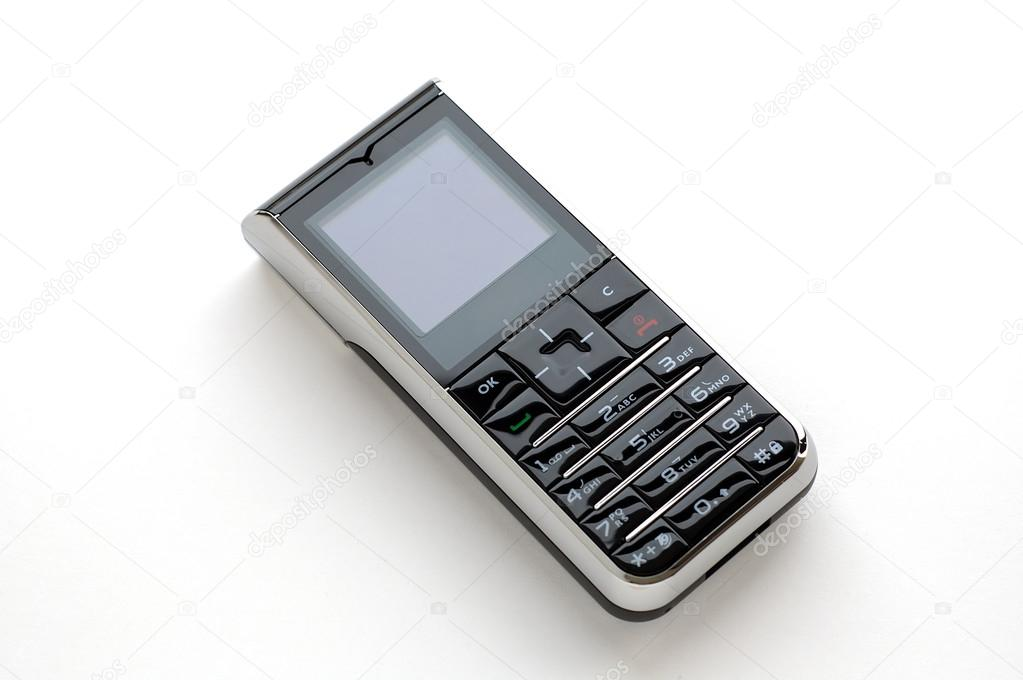 Foto Bianco Cellulare Moderno Telefono Cellulare Con Sfondo