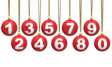 Christmas ball numbers