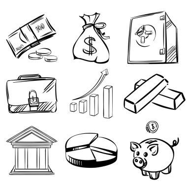 Banking icons set vector illustration