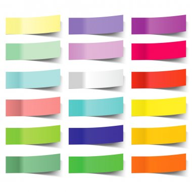 Collection of colorful vector sticky notes