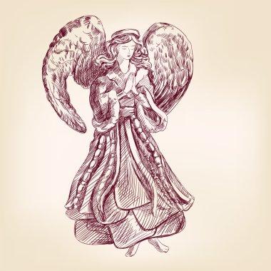 Angel hand drawn