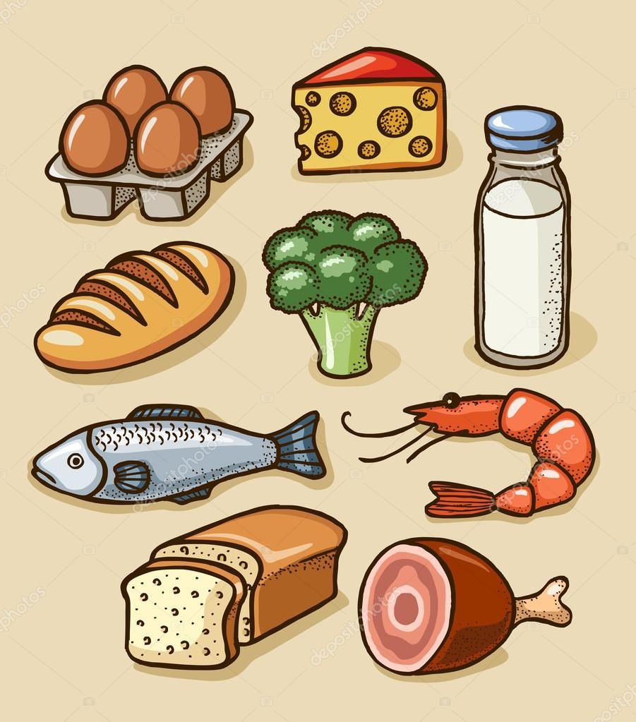 Детские рисунки продукты