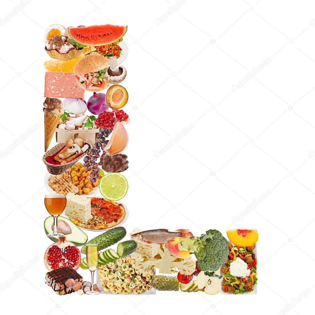 letter l made of food stock photo grafvision 12549727. Black Bedroom Furniture Sets. Home Design Ideas