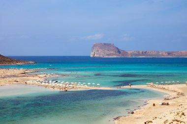Beautiful beach on Crete island