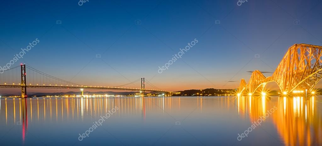 Two bridges over the Firth of Forth