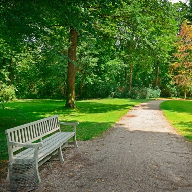 Bench in a beautiful park.