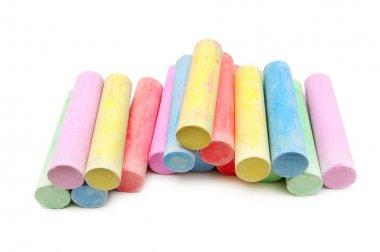 multicolored chalk