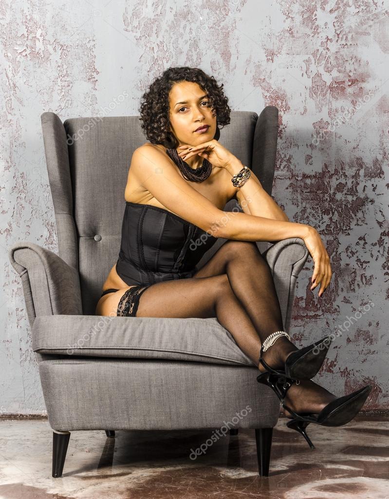 Woman In Black Lingerie 43