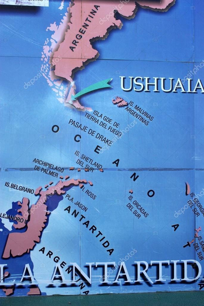 Carte en Ushuaia — Photographie pascalou95 © #12261696