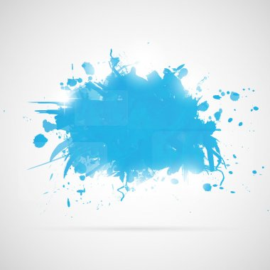 Abstract background with blue paint splashes.