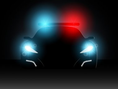 Police car. Vector illustration.
