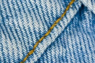 Seams on the denim texture