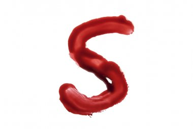 Dripping blood fonts the letter S