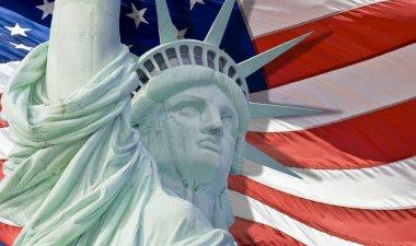 """Картина, постер, плакат, фотообои """"статуя свободы со слезоточивой каплей изолирована """", артикул 14767675"""