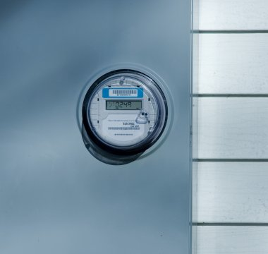New electric meter on the wall