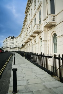 Regency houses brighton street england