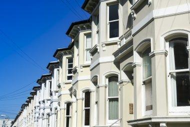 terraced houses brighton street england