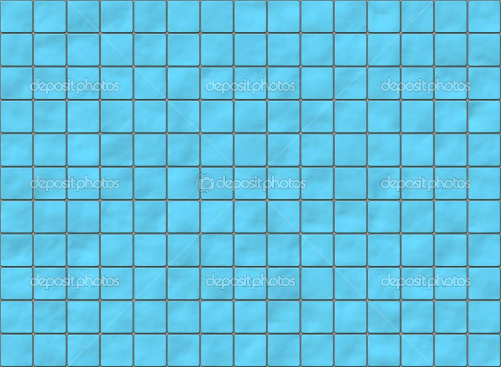 Viele Blaue Quadratische Fliesen Mit Abgerundeten Ecken Muster Text