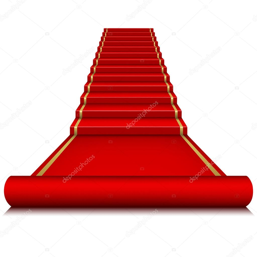 Alfombra roja con escalera vector de stock len pri - Alfombra para escalera ...