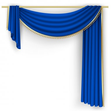 Blue curtain Mesh