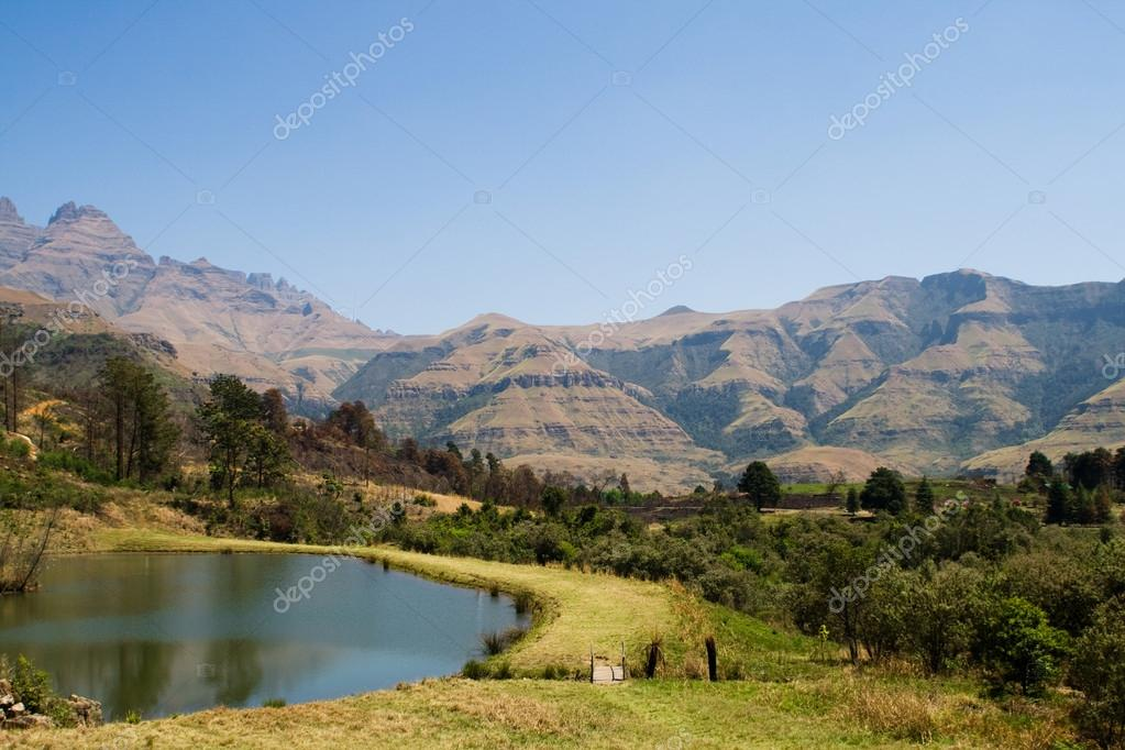 Drakensberg mountain in south africa