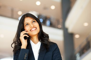 Asian businesswoman talking on mobile phone