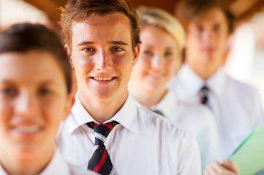 High school students group portrait