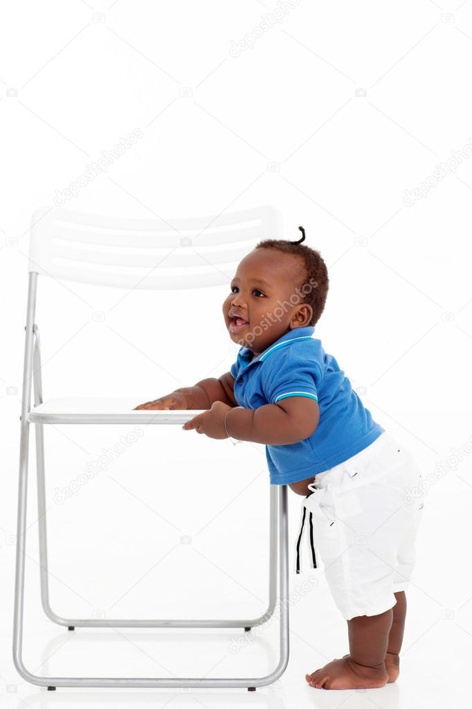 Garçon Afro Autour Bébé Mignon Marcher AméricainApprendre À D'une Nn8wk0OPX