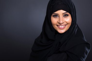 smiling Arabic woman