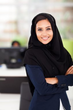 Arabic businesswoman in office