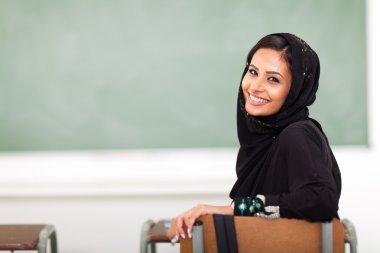 Muslim college girl