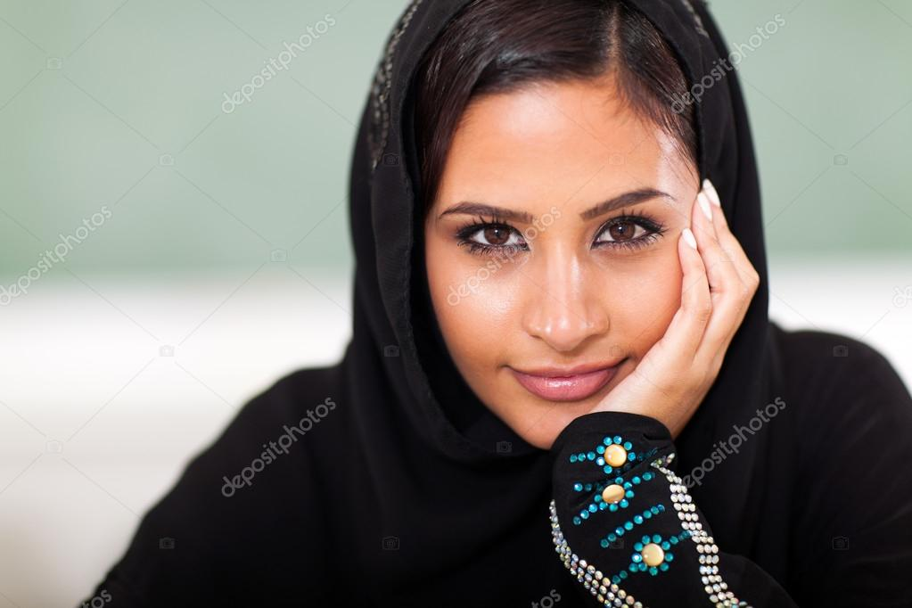 Teen Muslim female student