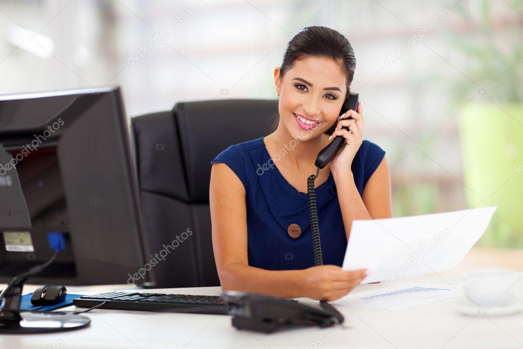 secretary answering telephone