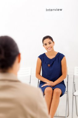 asian woman doing job interview