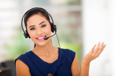 customer service woman smiling
