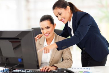 business women working at the office