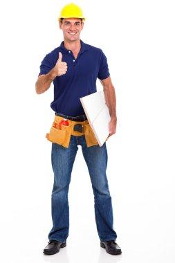 carpenter giving thumb up