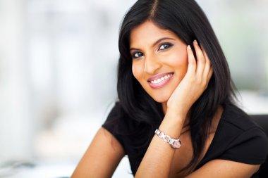 beautiful indian white collar worker
