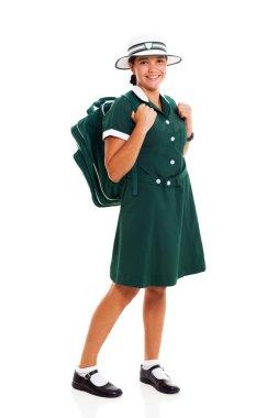 teenage school girl with backpack
