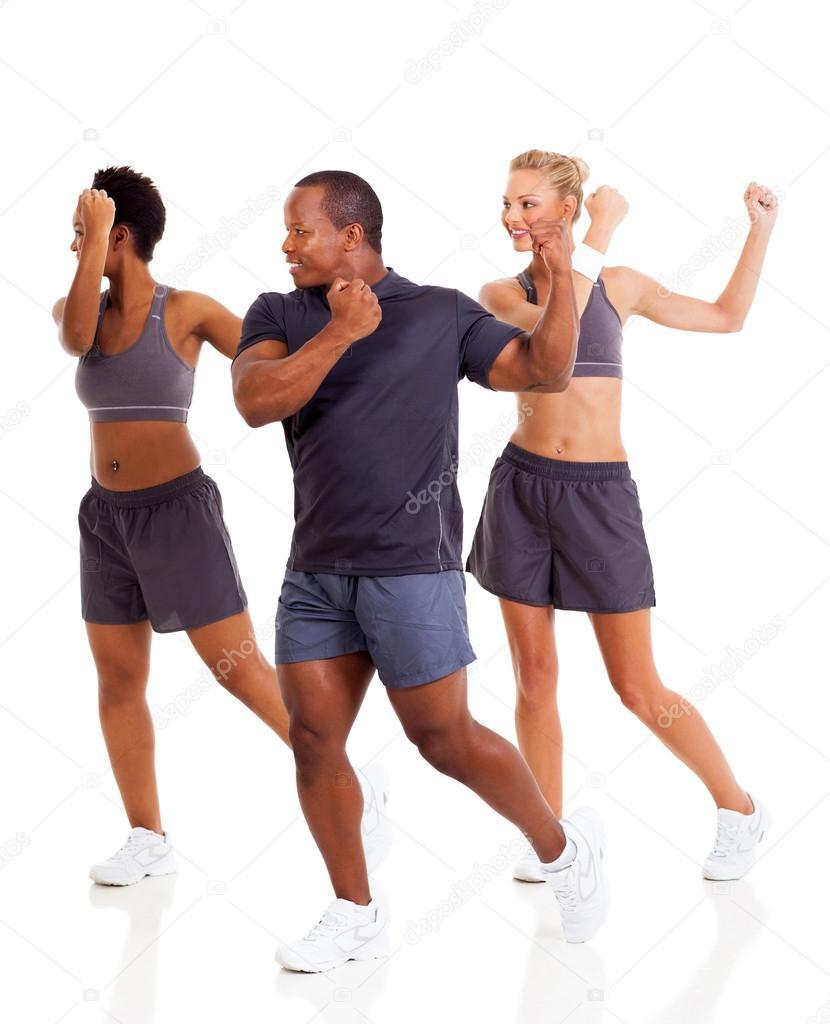 group of doing aerobics