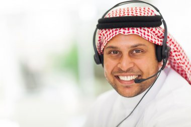 arabic business man with headphone