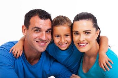 happy family close up