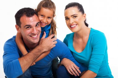 couple with their little daughter